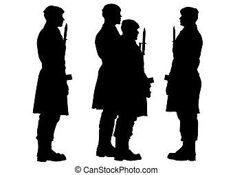 Soldier whit gun four
