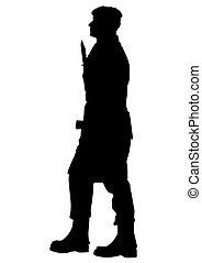 Soldier whit gun nine