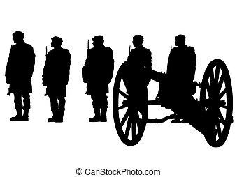 Soldier whit gun one