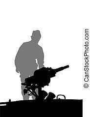Soldier whit gun