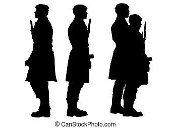 Soldier whit gun ten