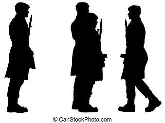 Soldier whit gun three