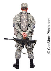 soldier with assault rifle