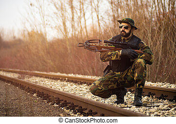 soldier with crossbow