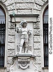 Soldier with spear in Vienna Hofburg, Austria
