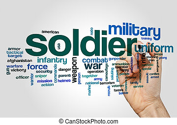 Soldier word cloud