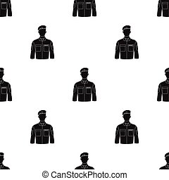 Soldier.Professions single icon in black style vector symbol stock illustration web.