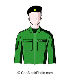 Soldier.Professions single icon in cartoon style vector symbol stock illustration web.