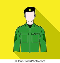 Soldier.Professions single icon in flat style vector symbol stock illustration web.