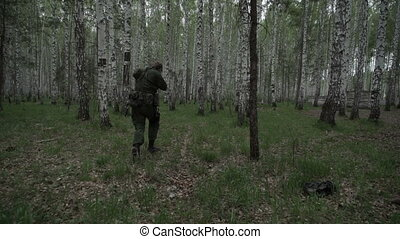 Soldiers in forest