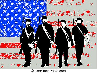 Soldiers of civil war four