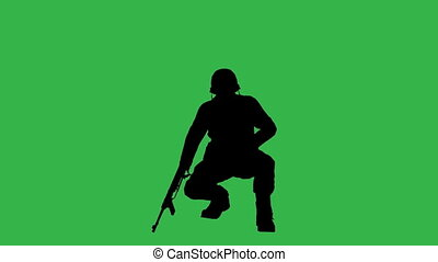 Soldiers on green screen made in 3d software
