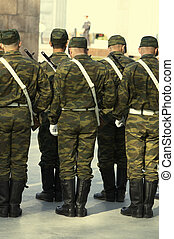 soldiers on the parade - military(special yellow fx)