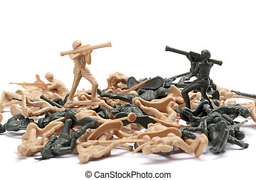 soldiers on war
