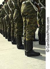 soldiery, em, filas