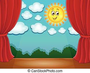 sole 2, palcoscenico, felice