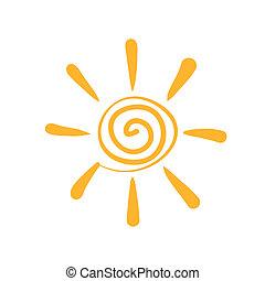 sole, astratto, simbolo