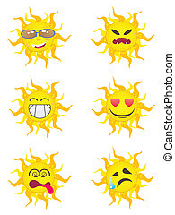 sole, cartone animato, caratteri