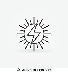 sole, concetto, icona