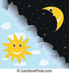 sole, e, luna