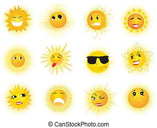 sole, espressioni, molti