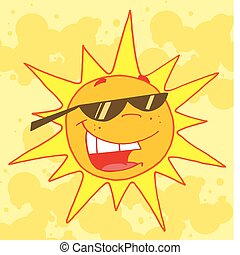 sole, estate, caldo