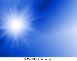sole, generare, digitalmente, immagine