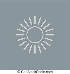 sole, icon., vettore, illustration.
