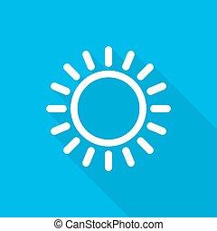 sole, icon., vettore, illustrazione