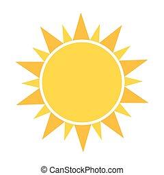 sole, icona, vettore