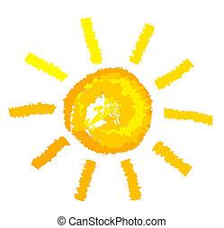 sole, illustrazione