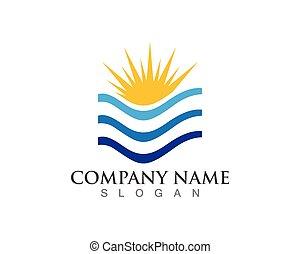 sole, illustrazione, logotipo, vettore, icona, sagoma