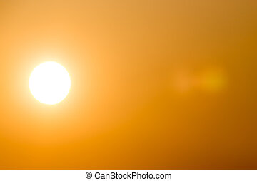 sole, in, il, cielo, a, tramonto