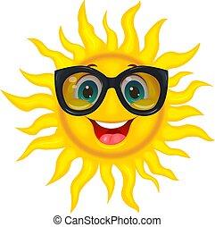 sole, in, occhiali da sole