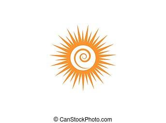 sole, logotipo, sagoma