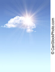 sole, nuvola