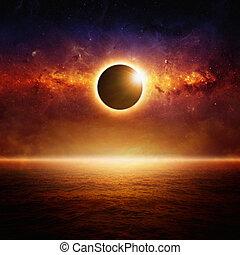 sole, pieno, eclipce