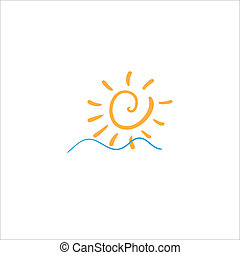 sole, salita, mare, onde