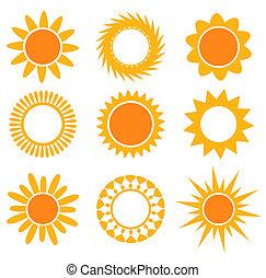sole, samling, iconerne
