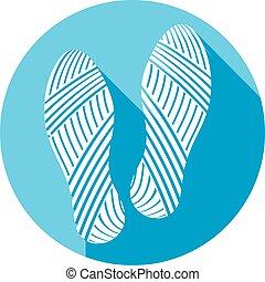 sole shoe imprint flat icon