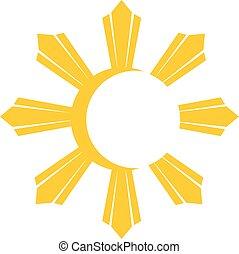 sole, simbolo, giallo
