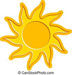 sole, simbolo, vettore