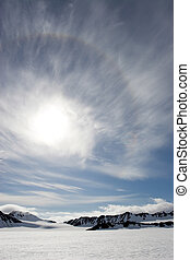sole, sopra, il, ghiacciai