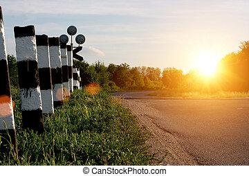 sole, strada, mattina