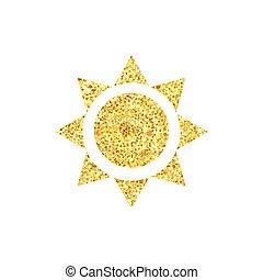 sole, triangolo, oro