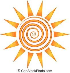 sole, turbine, raggi, logotipo