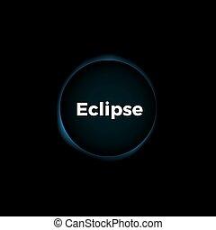 sole, vettore, eclissi, fondo
