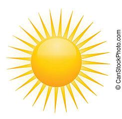 sole, vettore, logotipo