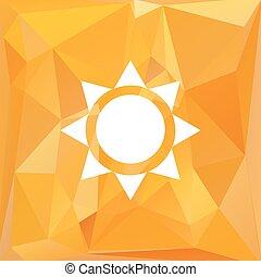 sole, vettore, triangolo