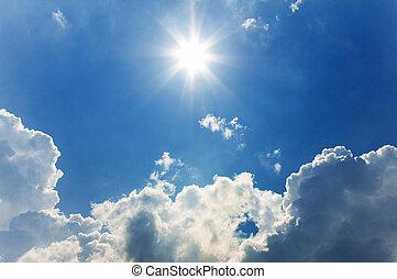 soleado, cielo, plano de fondo